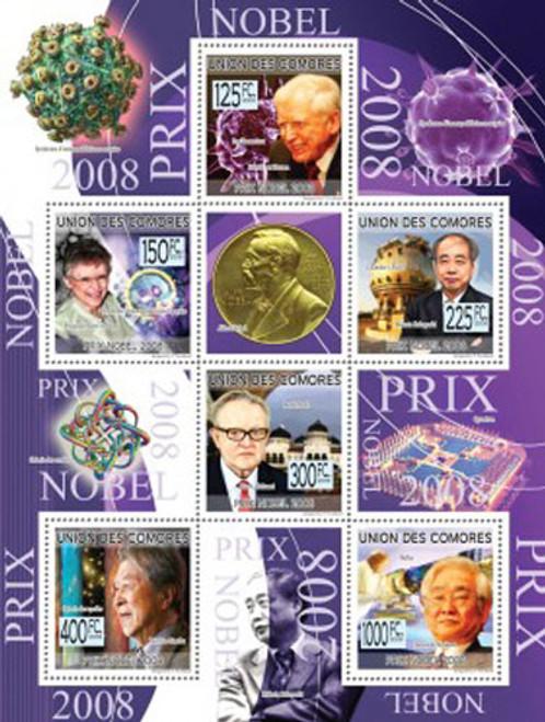 Comoros - Nobel Prize Winners - 6 Stamp Mint Sheet MNH - 3E-182
