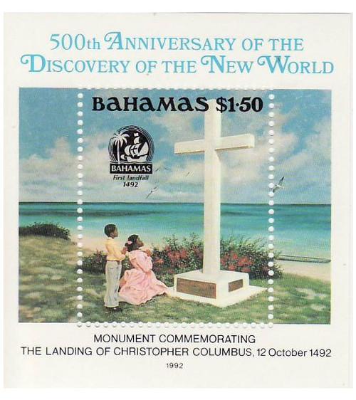 Bahamas - Columbus Monument - Mint Stamp S/S - 2P-005