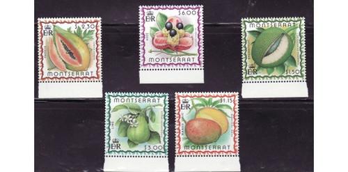 Montserrat - Fruits - 5 Stamp Mint Set MNH - 13M-003