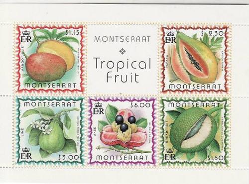 Montserrat - Fruits - 5 Stamp Mint Sheet MNH - 13M-004