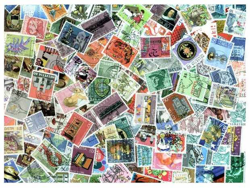 Switzerland Collection - 600 Different Stamps