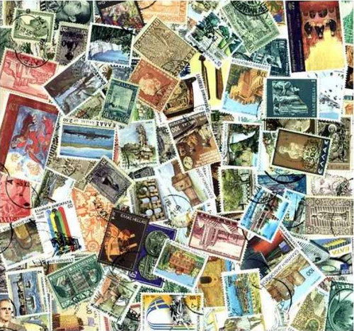 Greece Stamp Collection - 100 Different Stamps