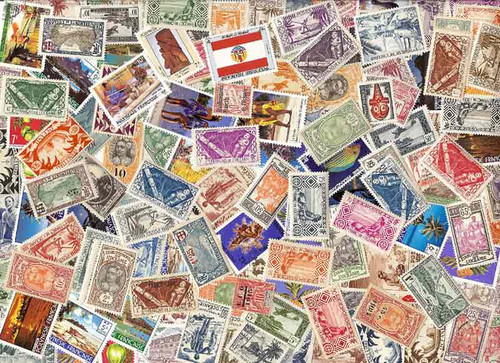 French Polynesia Stamp Collection - 150 Different Stamps