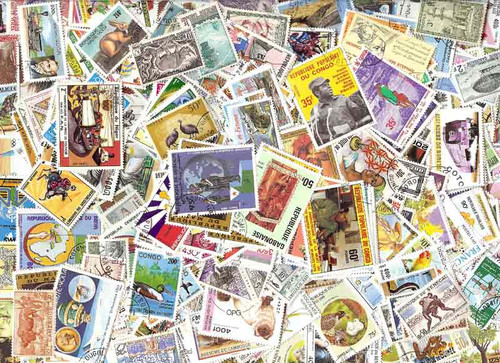 French Community Collection - 1,000 Different Large Pictorial Stamps