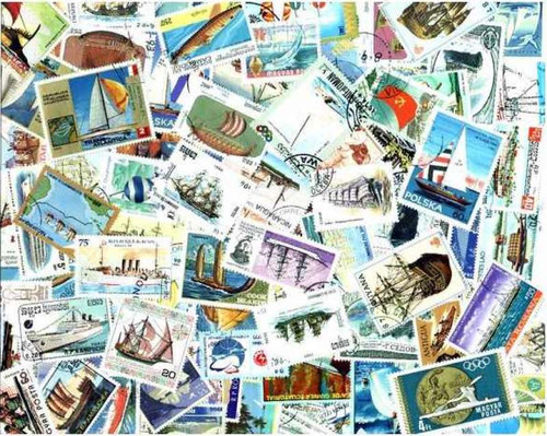 Ships on Stamps Collection - 500 Different Stamps