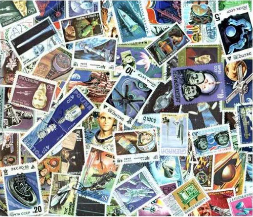 Space Stamp Collection - 500 Different Stamps