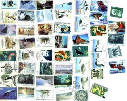Australia Antarctic Stamp Collection - 50 Different Stamps
