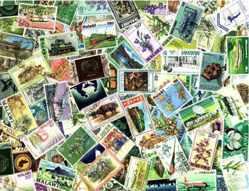 Malawi Stamp Collection - 100 Different Stamps