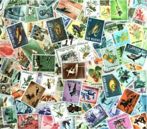San Marino Stamp Collection- 300 Different Stamps