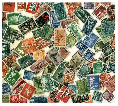 Saar Stamp Collection - 100 Different Stamps