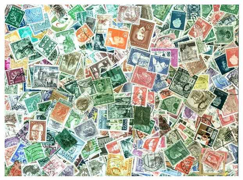 Western Europe Stamp Collection - 1000 Different Stamps