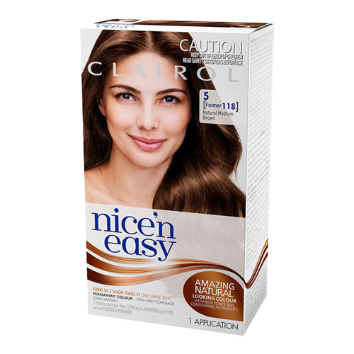Clairol Nice 'N Easy Hair Colour - 5 Natural Medium Caramel Brown
