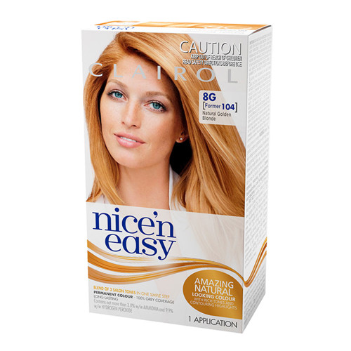 Clairol Nice 'N Easy Hair Colour - 8G Natural Golden Blonde