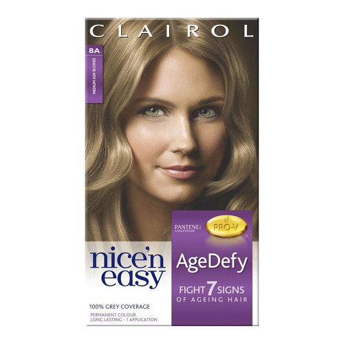 Clairol Nice 'N Easy Hair Colour Age Defy - 8A Natural Medium Ash Blonde