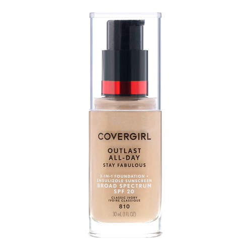 COVERGIRL Outlast All Day Stay Fabulous Foundation - 810 Classic Ivory