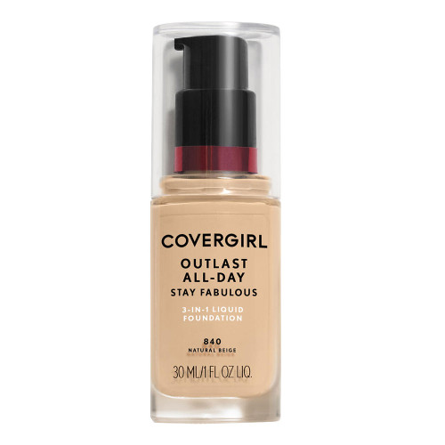 COVERGIRL Outlast All Day Stay Fabulous Foundation - 840 Natural Beige