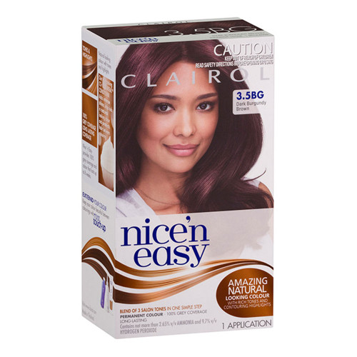 Clairol Nice 'N Easy Hair Colour - 3.5BGT Natural Dark Burgundy Brown