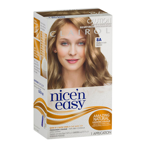 Clairol Nice 'N Easy Hair Colour - 8A Medium Ash Blonde