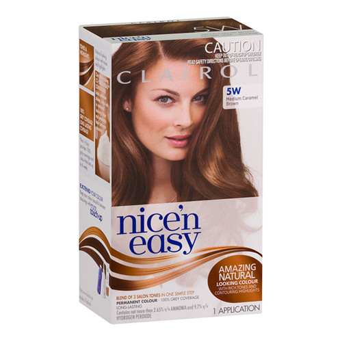 Clairol Nice 'N Easy Hair Colour - 5W Natural Medium Caramel Brown