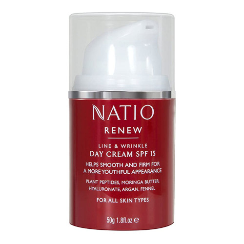Natio Renew Line & Wrinkle Day Cream SPF15 50g