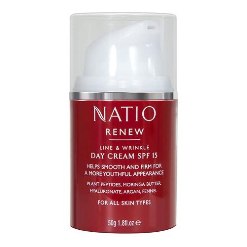 Natio Renew Line & Wrinkle Day Cream SPF15 50g