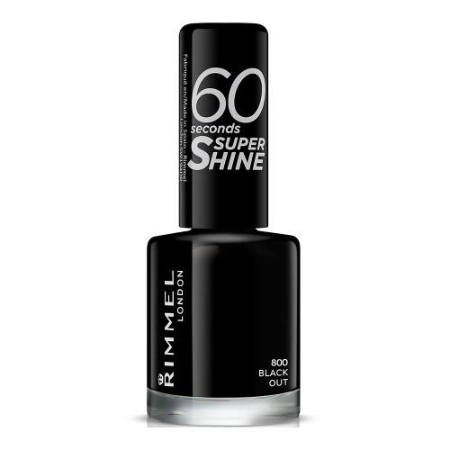 Rimmel 60 Seconds Super Shine Nail Polish - 800 Black Out