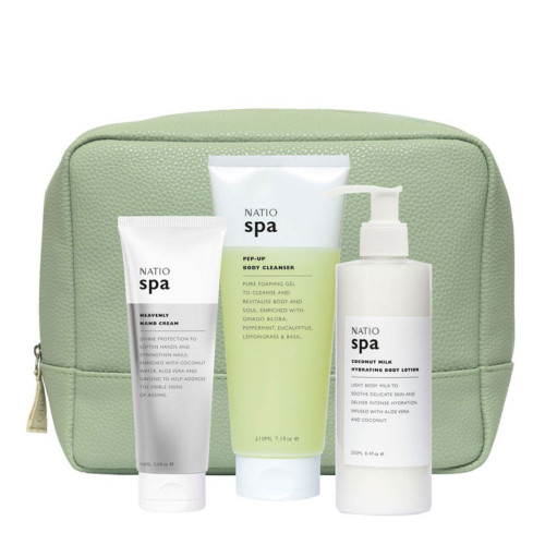 Natio Ripple Gift Set with Heavenly Hand Cream, Body Cleanser & Lotion