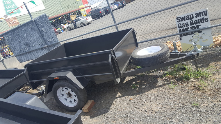 """6 X 4 Trailer 750Kg GVM 18"""" Sides Checker Plate Floor With Jockey Wheel and Spare Wheel"""
