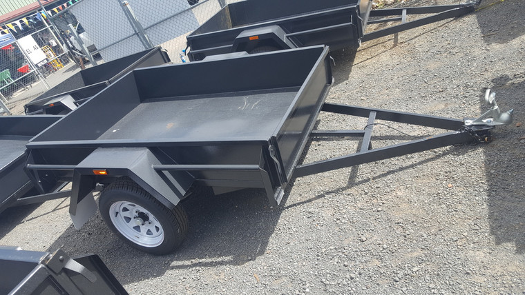 "6 X 4 Trailer 750kg GVM 12"" Sides Smooth floor, Drop Front, With new wheel and tyres"