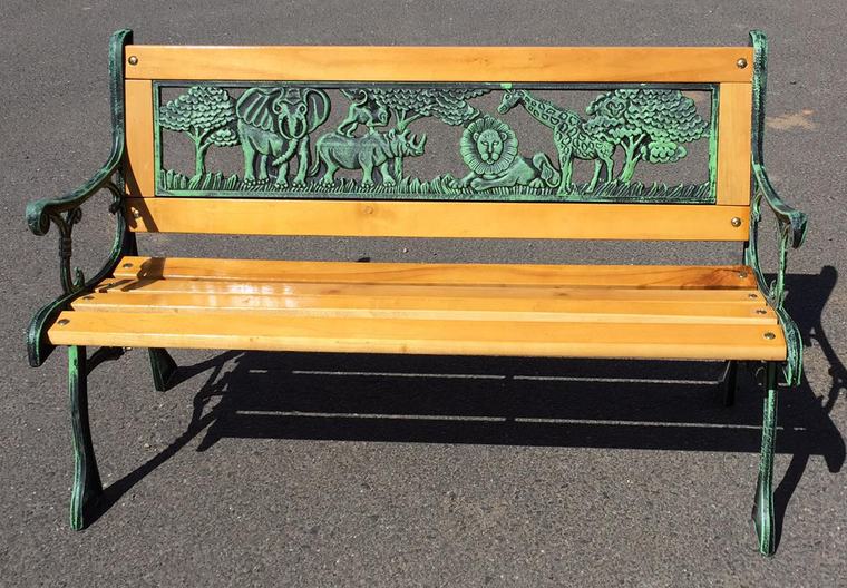 KIDS PARK BENCH (ANIMAL PATTERN) C020