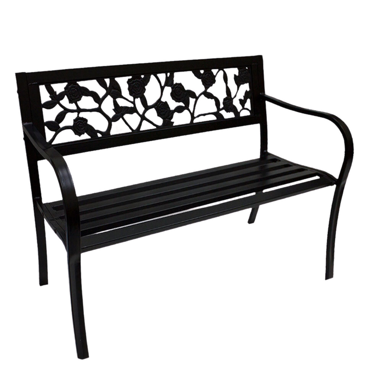 STEEL PARK BENCH (ROSE PATTERN) C074