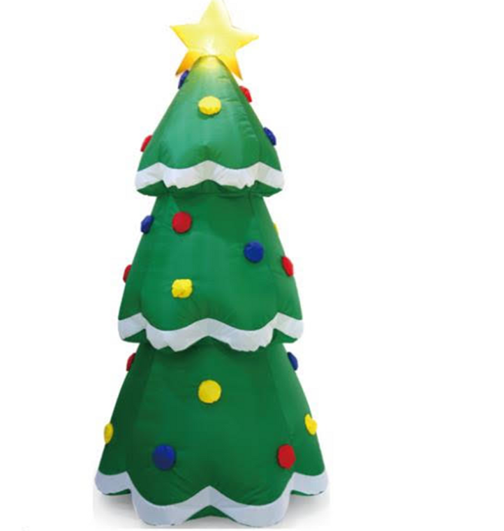 CHRISTMAS TREE WITH STAR, INFLATABLE