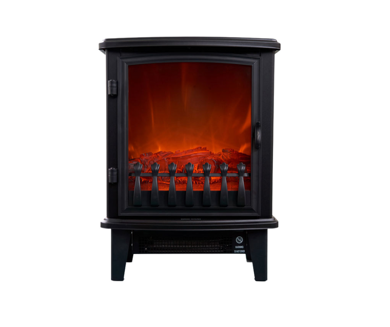 Power: 1800W 2 Heat settings: 900W & 1800W Log LED flame effect Easy to operate and maintain Freestanding style fire with steel Fan assisted to circulate warm air Safety thermal cut-off device Overheat protection For indoor use only No venting required Dimensions: 41.5cm x 57cm x 28cm 12 Months warranty