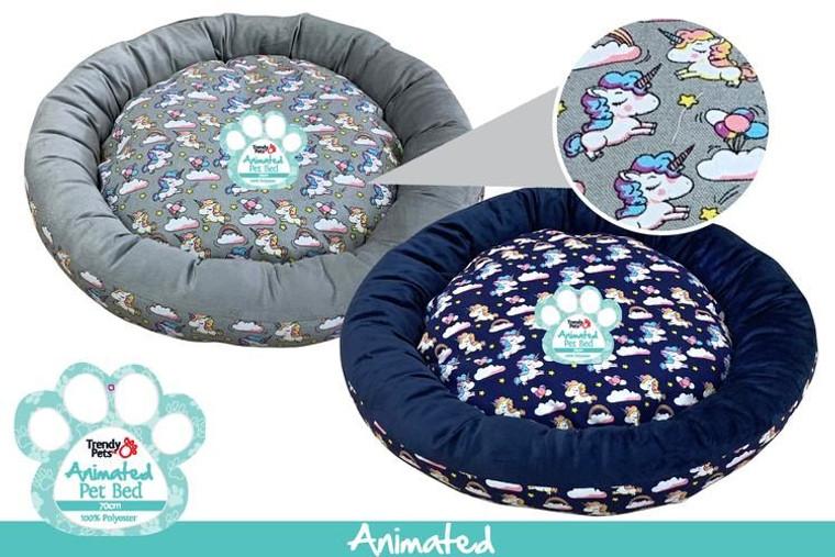 1Pce Unicorn Round Pet Bed 70cmD x 12cm
