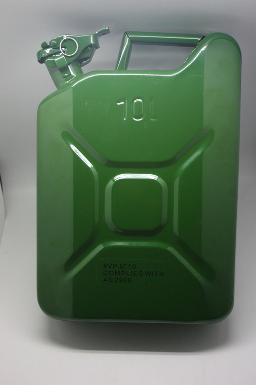 10L Steel Jerry CAN W Locking Pins Fuel Diesel Container Goldfields Leisure