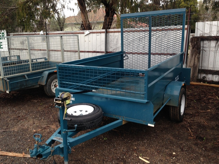 Single Axle Cage Trailer with Ramp - Hire Trailer