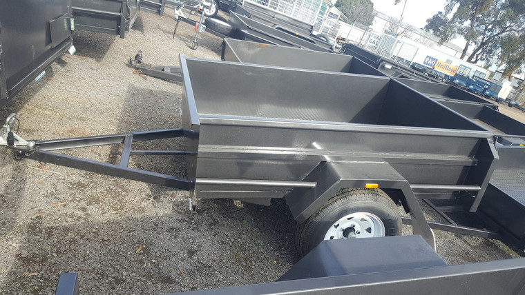 """6 X 4 Trailer 750KG, Deep 18"""" sides, checker plate floor fixed front"""