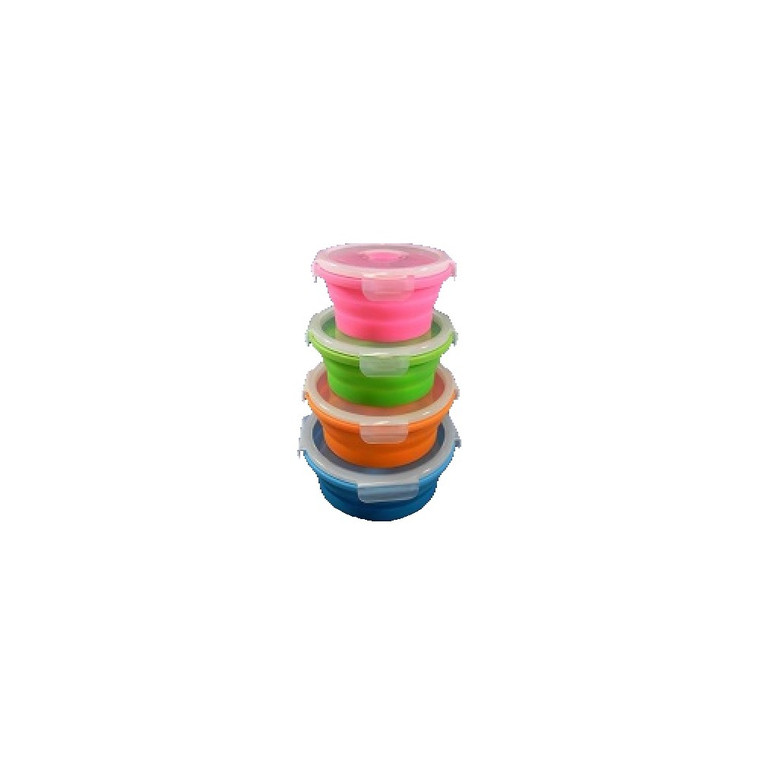 COLLAPSIBLE SET OF 4 ROUND CONTAINERS
