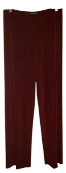 Burgundy Waist Wide Legs