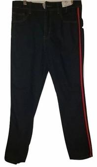 Dark Blue Red Navy Side Stripe