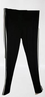 Black White Stripe Leggings
