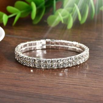 Rhinestone Stretch Bracelet Bangle