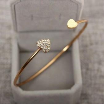 Double Heart Crystal Bracelet