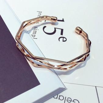 Vintage Rose Gold Cuff Bracelet