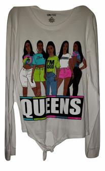 White Queens Girls Top