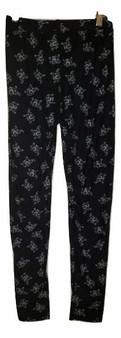 Black Printed Elephant Leggings
