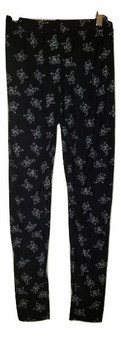 Black Printed Elephant Leggings