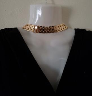 Gold Plated Design Choker