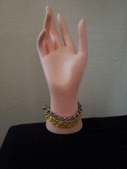 Yellow Braided Chain Bracelet