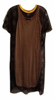 junior net dress, junior dresses, yellow dress